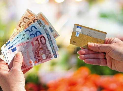 Bargeld-abheben
